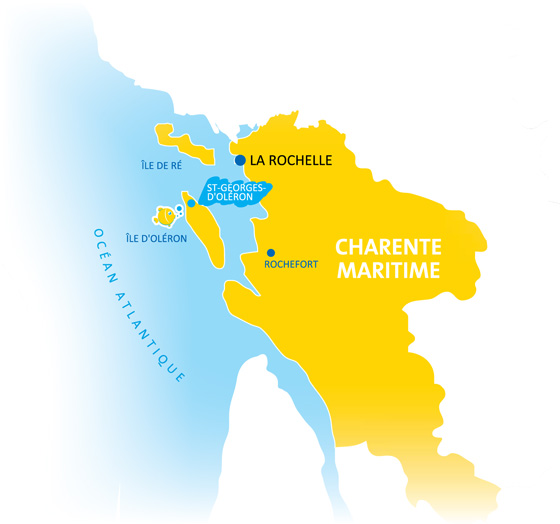 Situation Campings Chadotel - carte Charente Maritime - Ile d'Oléron