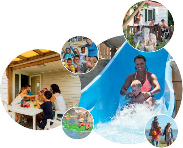 famille heureuse au camping chadotel