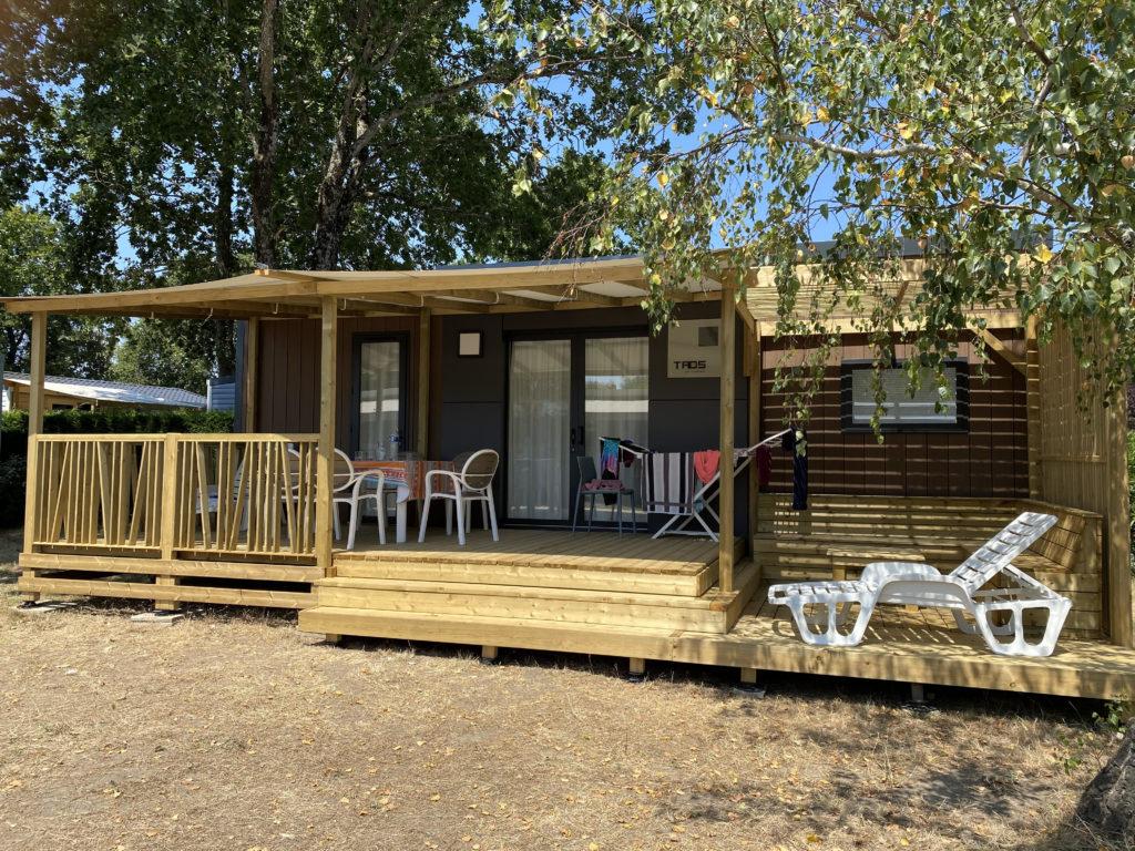 camping proposant la location de mobil home pour famille nombreuse